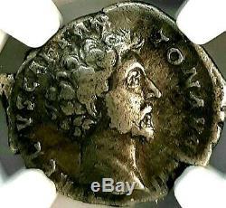 Ngc F. Marc-aurèle Caesar 161 Après Jc Superbe Rare Denarius Romain Silver Coin