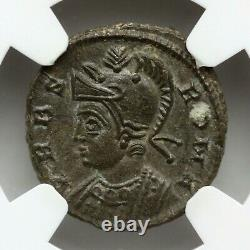 Ngc Ms Roman Coin / Nummus Romulus & Remus & She-wolf 340ad De Epfig Hoard