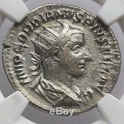 Ngc Old Argent Antique Coin Gordien III Ad 238-244. Empire Romain Ar Ch Vf Nr. 372
