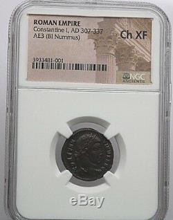 Ngc Roman Coin Constantin I, Ad 307-337. Ae3 (bi Nummus) Ch Xf. Nr. 370