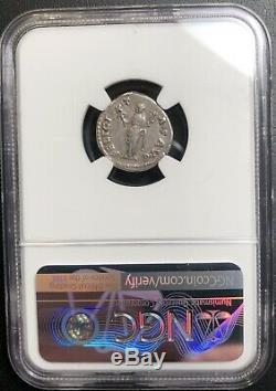 Ngc Vf Hadrien Denier 117-138 Romaine Antique Pièce D'argent