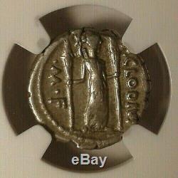 Ngc Vf. République Romaine P. Clodius 42 Av. Denier Superbe. Coin Argent Antique