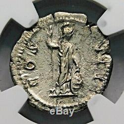 Ngc Xf. Hadrien. Exquis Denier. Ancien Romain Silver Coin