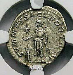 Ngc Xf. Héliogabale. Excellente Denier, Struck Ad 218-222. Roman Silver Coin