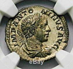 Ngc Xf. Héliogabale. Superbe Denier Vers Ad 219-220 Romaine Antique Pièce D'argent