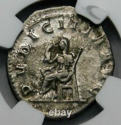 Ngc Xf. Herennia Etruscilla Superbe Pièce D'argent Romaine Antique À Double Denarius