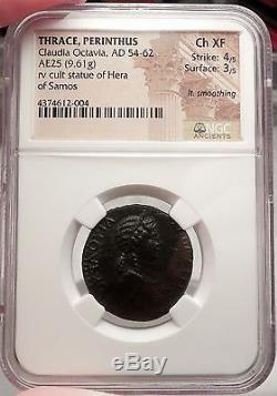 Octavia, Épouse De Nero. Thrace, 54 Ap. Authentique Pièce De Monnaie Romaine Certifiée Ngc Choice Xf