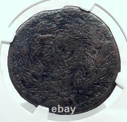Octavian Augustus & Divus Julius Caesar 38bc Sestertius Roman Coin Ngc I81415