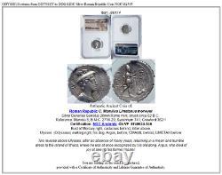 Odysseus Retourne D'odyssey À Dog 82bc Silver Roman Republic Coin Ngc I86174