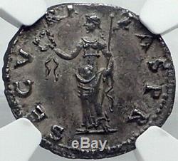 Othon Très Rare 69ad Romain Authentique Argent Ancienne Pièce De Monnaie Securitas Ngc I82503
