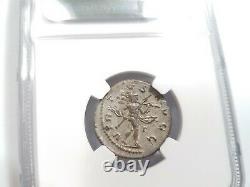 Philip II Empire Romain Ngc Au Double Denarius J.-c. 247-249 Pièce D'argent Antique