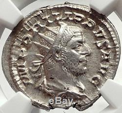 Philip L'arabe 1000 Ans De Rome Colisée Romain Lion Argent Monnaie Ngc I68727