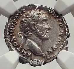 Pie 158ad Rome Antonin Authentique Antique Argent Monnaie Ngc Ch Roman Xf I62477