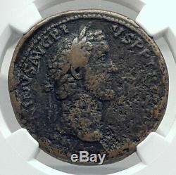 Pie & Antonin Aurelius César Marcus 140ad Romaine Antique Monnaie Ngc I79204
