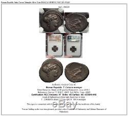 Pièce D'argent De La République Romaine Julius Caesar Triumphs Oracle Sphinx Ngc Xf I58229