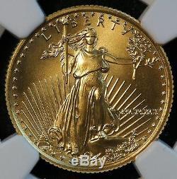 Pièce De 10 Dollars Américains 1991 Avec 1/4 Oz D'or (ngc Ms 70 Ms70) Numéros Romains (07738)