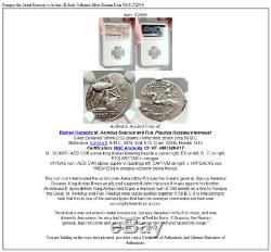 Pompée Le Grand Général Vs Aretas III Arabe Nabatea Argent Romaine Monnaie Ngc I72950