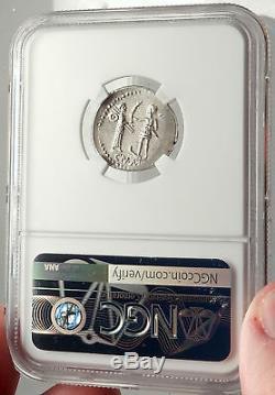Pompey Jr. Fils Du Grand 46bc Espagne République Romaine Argent Monnaie Ngc I69586