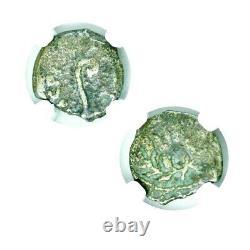 Ponce Pilate Bronze Prutah Pièce Sous L'empereur Tibère Ngc Certifié, & Histoire
