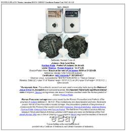 Ponce Pilate Tibère Jérusalem Jésus-christ Crucifixion Romaine Monnaie Ngc I84428