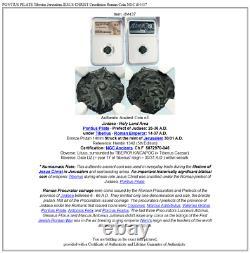 Ponce Pilate Tibère Jérusalem Jésus-christ Crucifixion Romaine Monnaie Ngc I84437