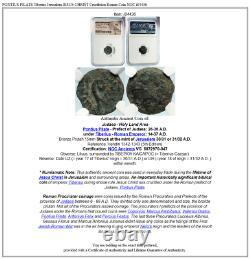 Pontius Pilate Tibère Jérusalem Jésus Christ Crucifixion Roman Coin Ngc I84436