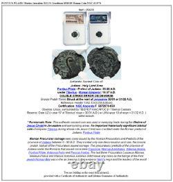 Pontius Pilate Tibère Jérusalem Jésus Crucifixion Error Roman Coin Ngc I83976