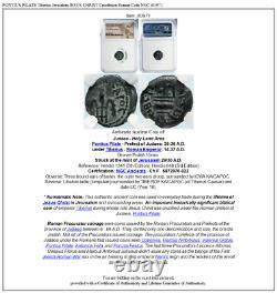 Pontius Pilate Tiberius Jérusalem Jésus Christ Crucifixion Romaine Coin Ngc I83971