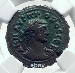 Probus Original Ancien 278ad Tetradrachme Alexandrie Egypte Roman Coin Ngc I81534