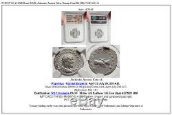 Pupienus 238ad Rome Rare Authentique Pièce De Monnaie Antique En Argent Antique Mains Ngc I63346