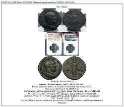 Pupienus 238ad Rome Sesterce Romain Authentique Ancienne Pièce De Monnaie Victoire Ngc I58220