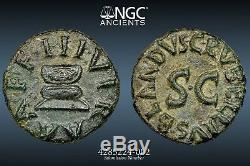 Rare Pièce Quadrans De L'empire Romain Sous Emp. Augustus 4 Bc, Ngc Choice Xf 5/5 4/5