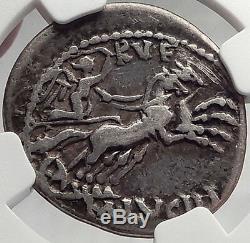 République Romaine 101bc Rome Authentique Ancienne Pièce De Monnaie Roma Victoire Chariot Ngc I61944