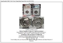 République Romaine 102bc Cybele Victory Chariot Stork Ancient Silver Coin Ngc I59832