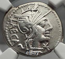 République Romaine 125bc Rome Antique Authentique Citoyen Law Argent Monnaie Ngc I59857