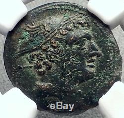 République Romaine 217bc Rare Temps De Guerre V Hannibal Ancienne Pièce De Monnaie Mercury Ngc I68937