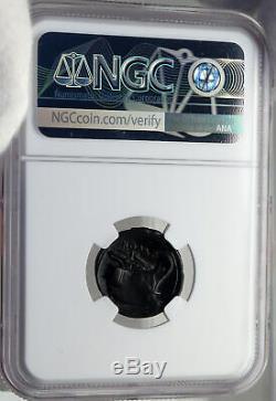 République Romaine 217bc Rare Temps De Guerre V Hannibal Ancienne Pièce De Monnaie Mercury Ngc I82699