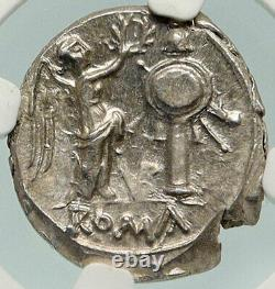 République Romaine 2e Guerre Punic Hannibal Tme Victoriatus Silver Coin Ngc Ms I84938
