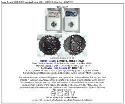 République Romaine 64bc Juno Lanuvium Festival Girl V Serpent Silver Coin Ngc I78533