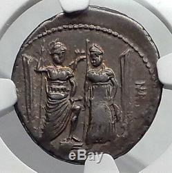 République Romaine 75bc Rome Liberty Venus Cupid Antique Argent Monnaie Ngc Chvf I60165