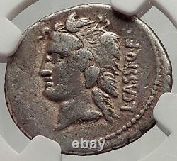 République Romaine 78bc Rome Pièce D'argent Antique Liber Libera Bacchus Ngc I62471