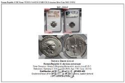 République Romaine 83bc Rome Venus Fasces Caduceus Pièce D'argent Ancienne Ngc I59892