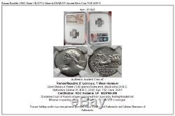 République Romaine 84bc Rome Vejovis Minerva Chariot Antique Silver Coin Ngc I61945