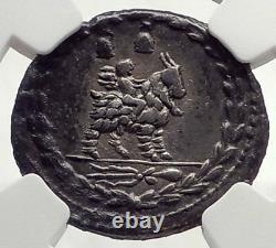 République Romaine 85bc Pièce D'argent Antique Vejovis Genius Zeus Mom Chèvre Ngc I71031
