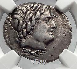 République Romaine 86bc Sulla Temps Anonyme Apollo Jupiter Argent Monnaie Ngc I60156
