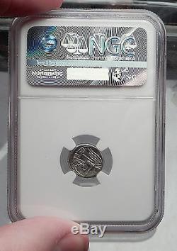 République Romaine 89bc Rome Oaic Quinarius Authentique Antique Argent Monnaie Ngc I59936