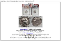 République Romaine 90bc Apollo Monnaie Ancienne Chariot À Cheval Minerve Ngc I62354