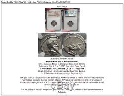 République Romaine 90bc Priape Fertilité Dieu Pegasus Antique Argent Monnaie Ngc I59808