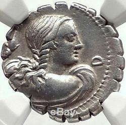 République Romaine Amphitrite & Neptune Authentique Ancien Denier D'argent Monnaie Ngc