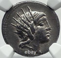 République Romaine Antique Rome Silver Coin Sol Big Dipper Constellation Ngc I82367